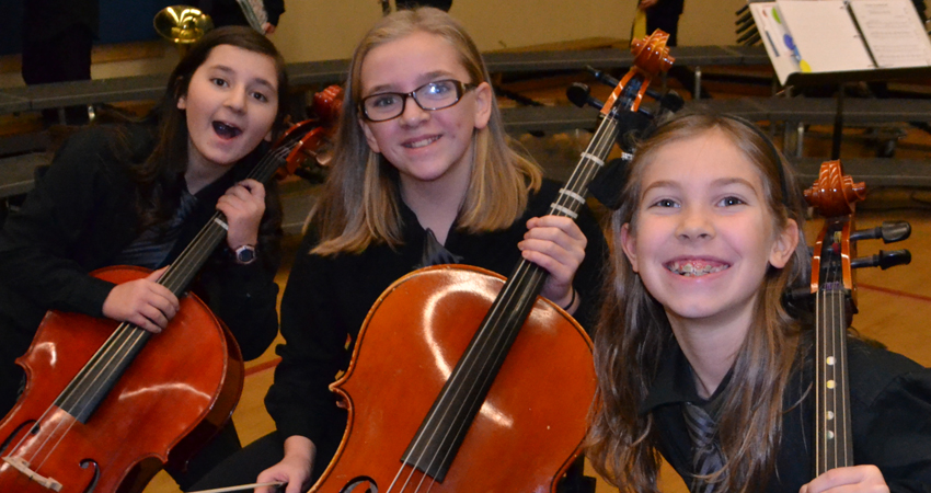 Loving playing in Glanford Strings.