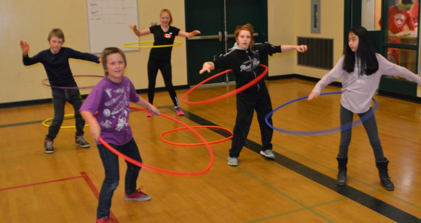 "Hula ""Hoops for Heart"""
