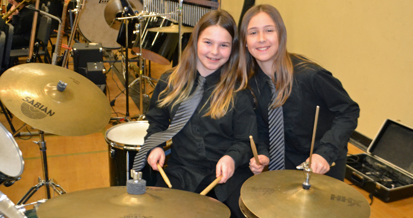 """""""Ba-Dum-Tishhhhhhh""""… Keeping time at the Spring Concert"""