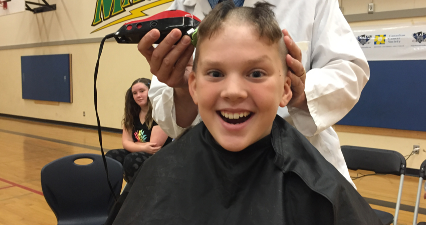 Setting a trend at the Head Shave