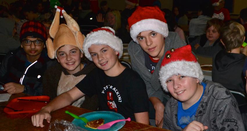 Hey…That kid has a turkey on his head!